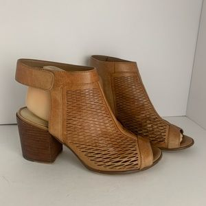 Vince Camuto Chunky Heeled Leather Sandals